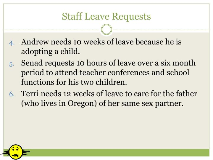 Staff Leave Requests