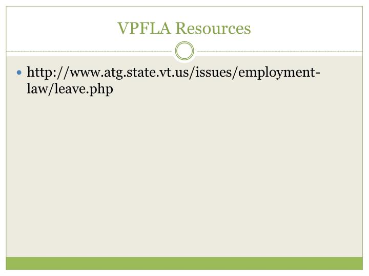 VPFLA Resources