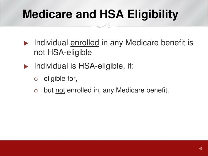 Medicare and HSA Eligibility