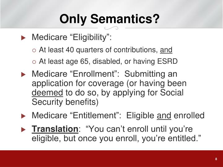Only Semantics?