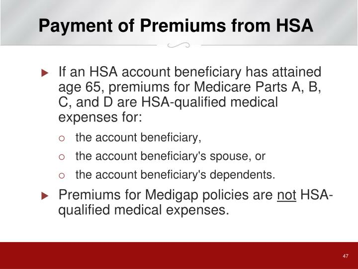 Payment of Premiums from HSA
