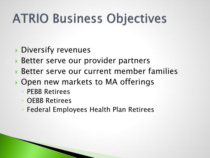 ATRIO Business Objectives