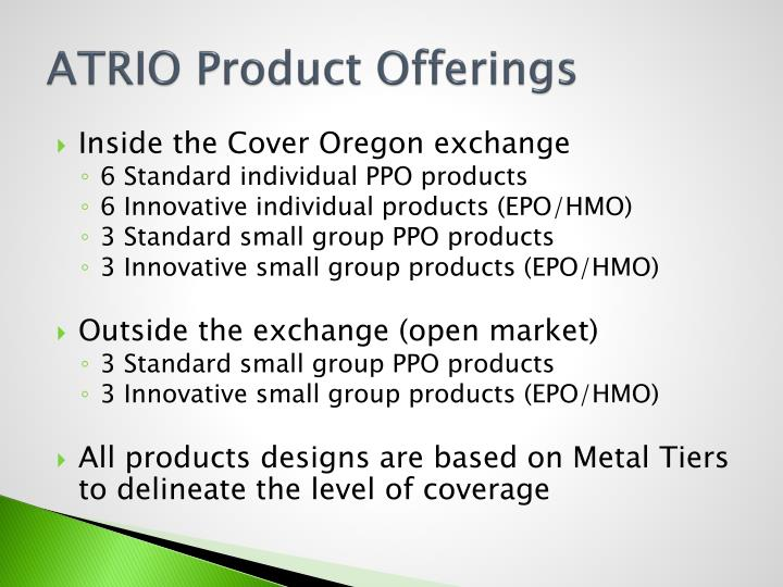 ATRIO Product Offerings