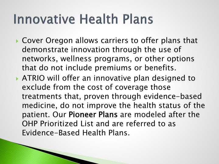 Innovative Health Plans