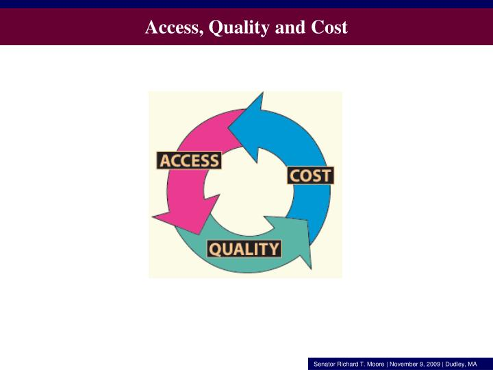Access, Quality and Cost