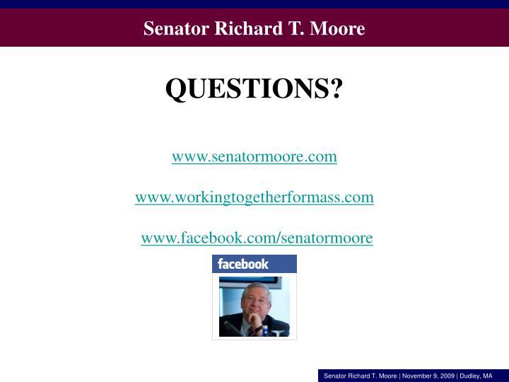 Senator Richard T. Moore