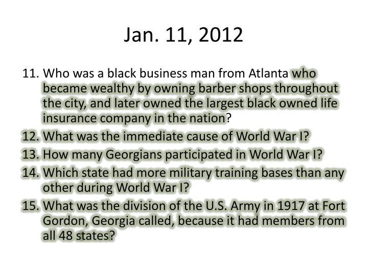 Jan. 11, 2012