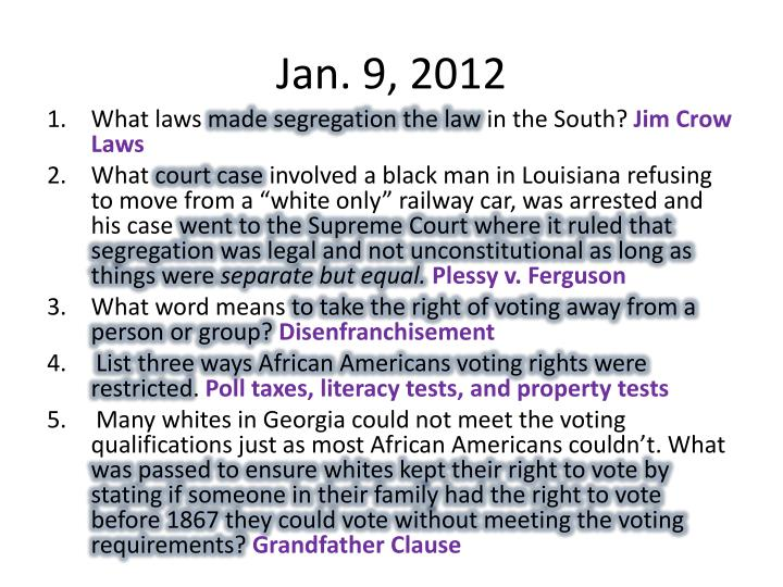 Jan. 9, 2012