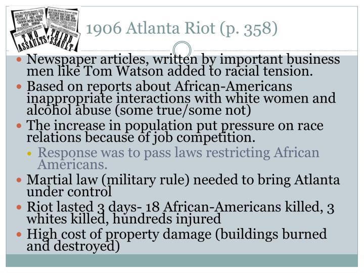 1906 Atlanta Riot (p. 358)
