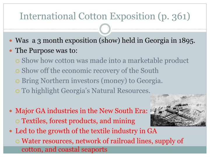 International Cotton Exposition (p. 361)