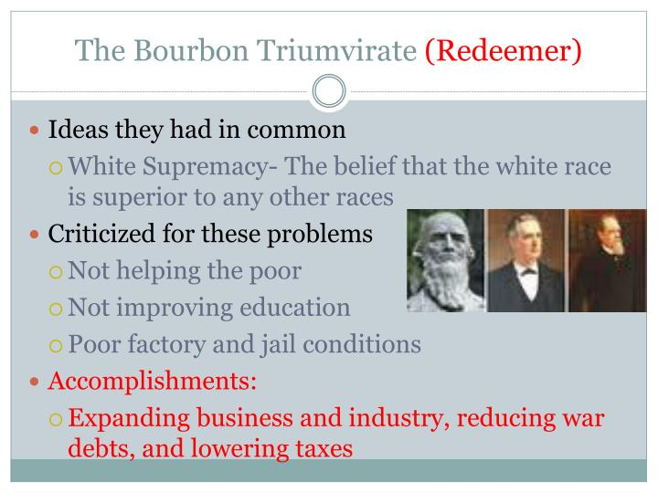 The bourbon triumvirate redeemer1