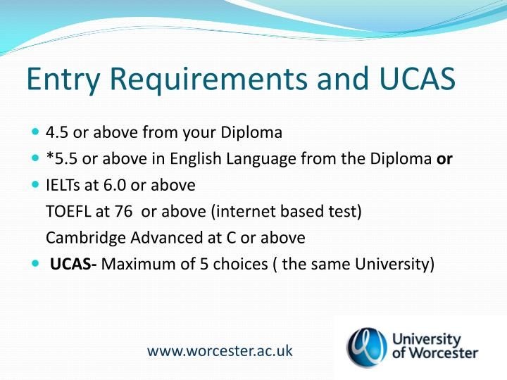 Entry Requirements and UCAS