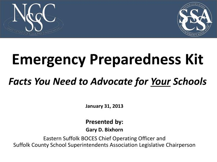 Emergency preparedness kit facts you need to advocate for your schools