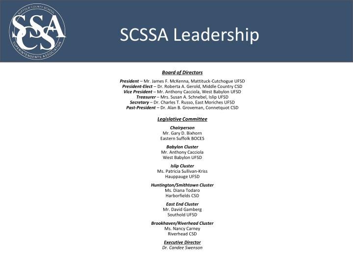 SCSSA Leadership