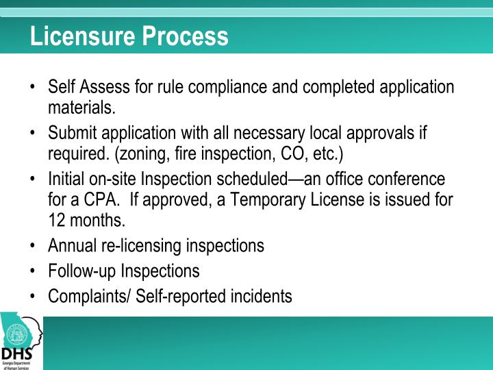 Licensure Process