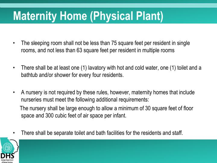 Maternity Home (Physical Plant)