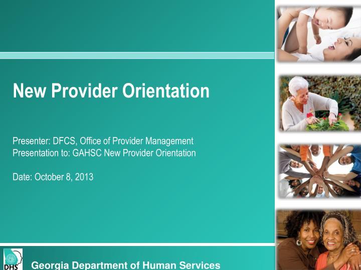 New Provider Orientation