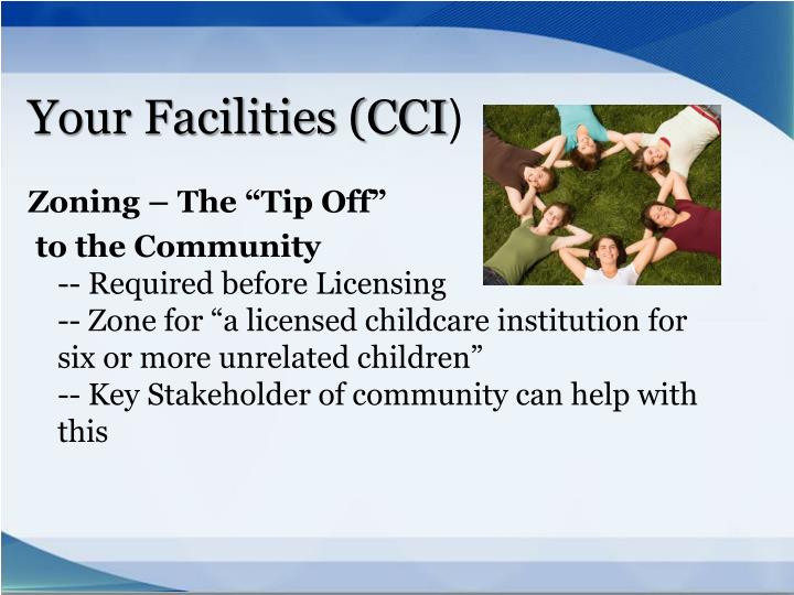 Your Facilities (CCI