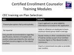 certified enrollment counselor training modules1