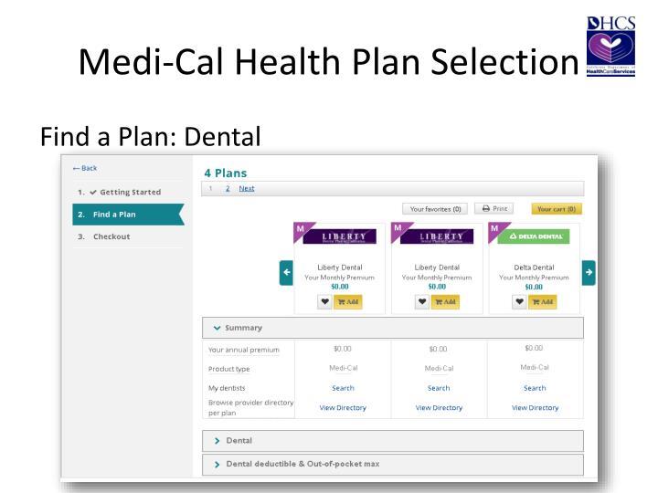 Medi-Cal Health Plan Selection