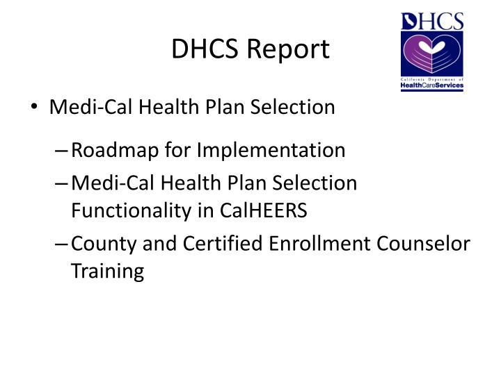 DHCS Report