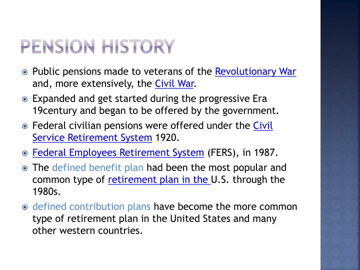Pension History