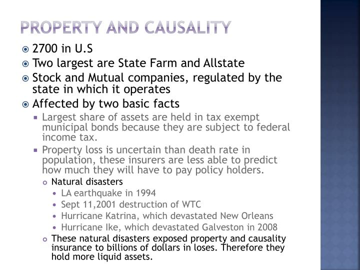Property and causality