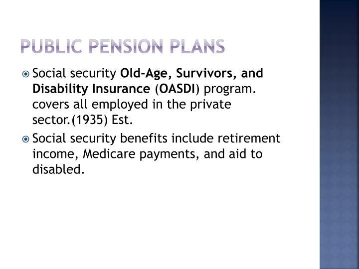 Public Pension Plans