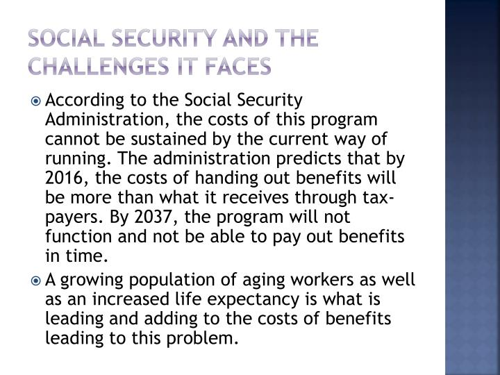 Social security and the challenges it faces