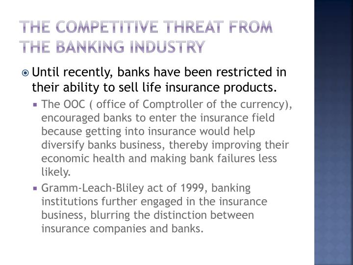 The competitive threat from the banking industry