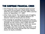 the subprime financial crisis