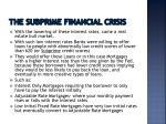 the subprime financial crisis1