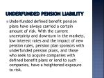 underfunded pension liability