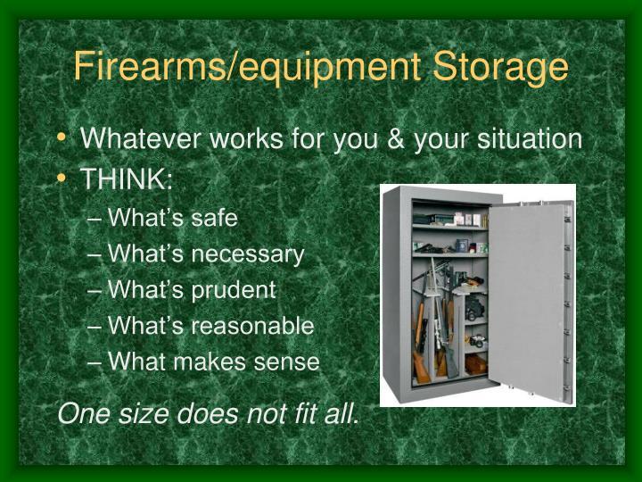 Firearms/equipment Storage
