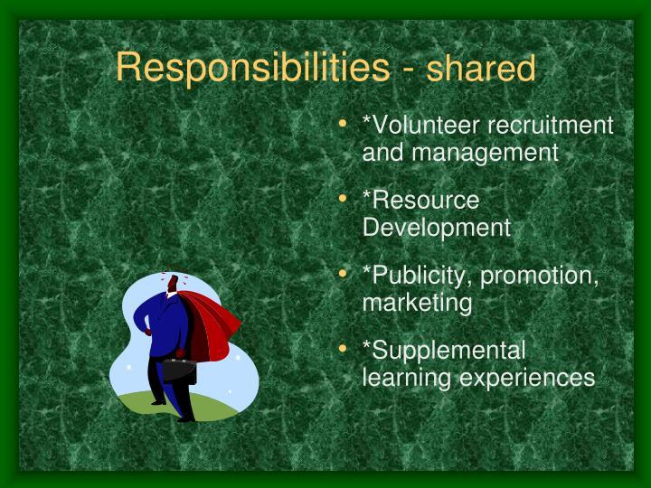 *Volunteer recruitment and management