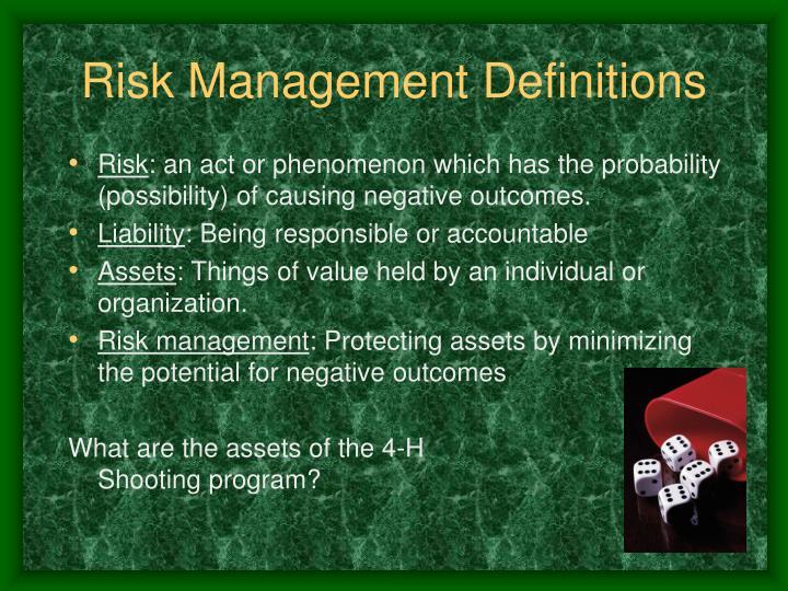 Risk Management Definitions