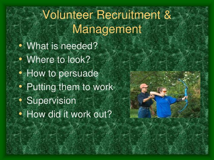 Volunteer Recruitment & Management