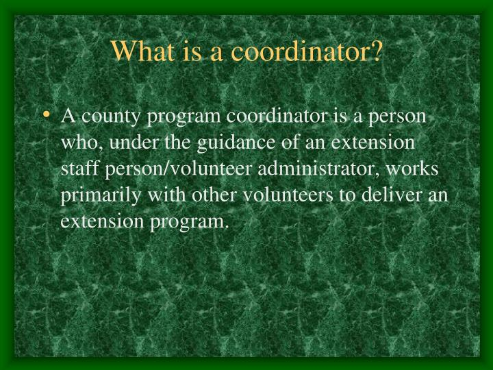 What is a coordinator?