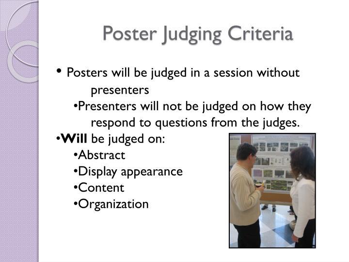 Poster Judging Criteria