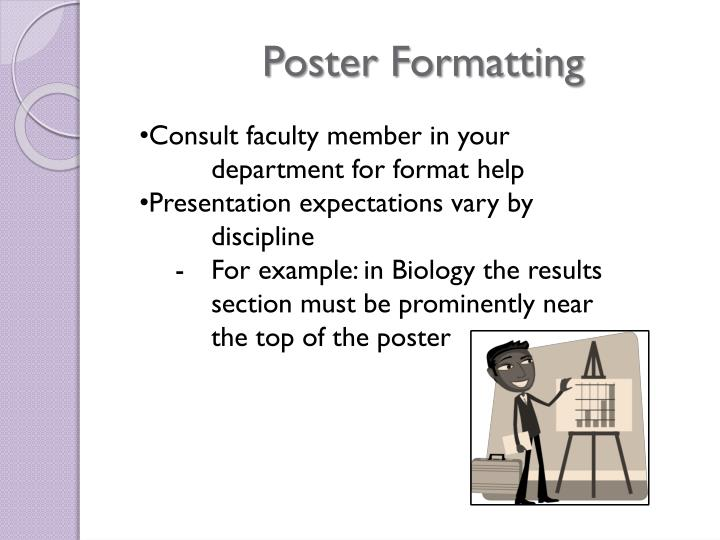 Poster Formatting