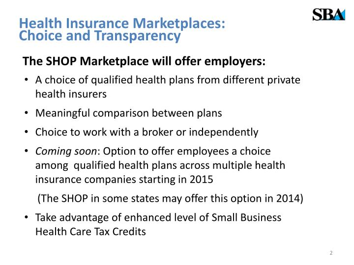 Health Insurance Marketplaces: