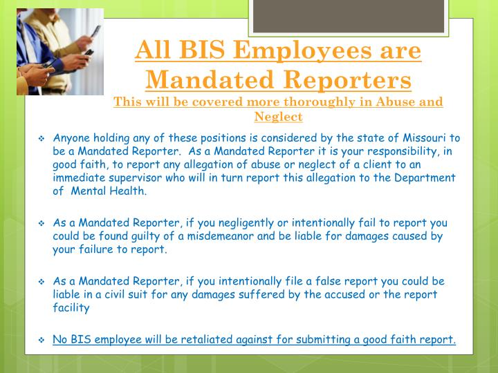 All BIS Employees are