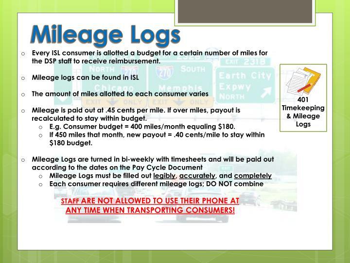 Mileage Logs