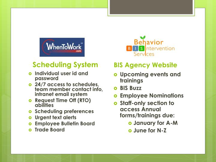 Scheduling System