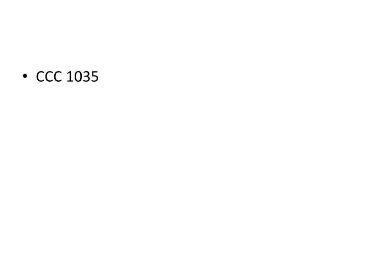 CCC 1035