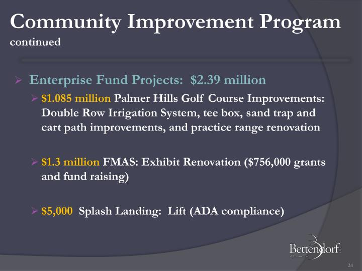 Community Improvement Program