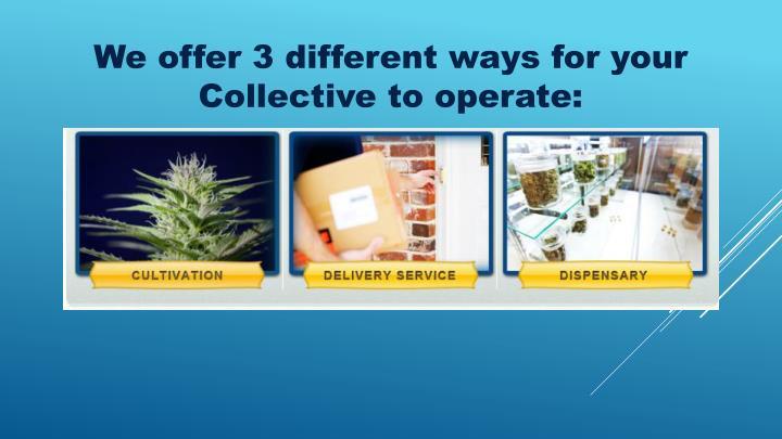 We offer 3