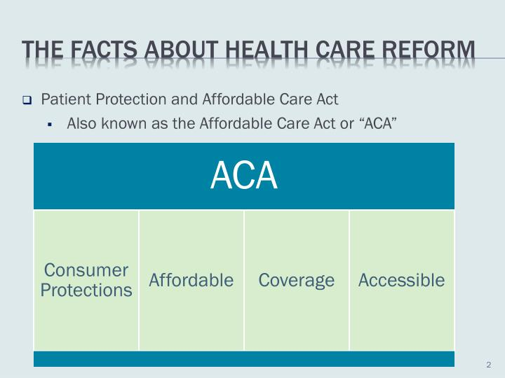 The facts about health care reform