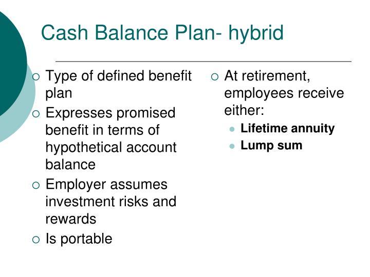 Cash Balance Plan- hybrid