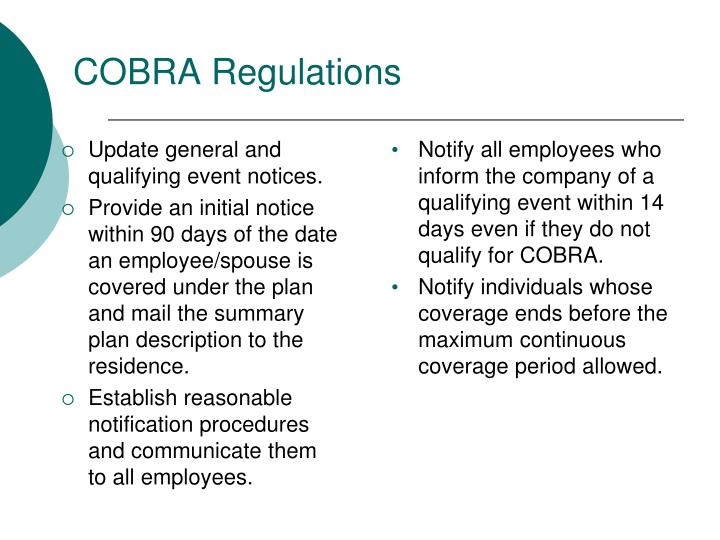 COBRA Regulations